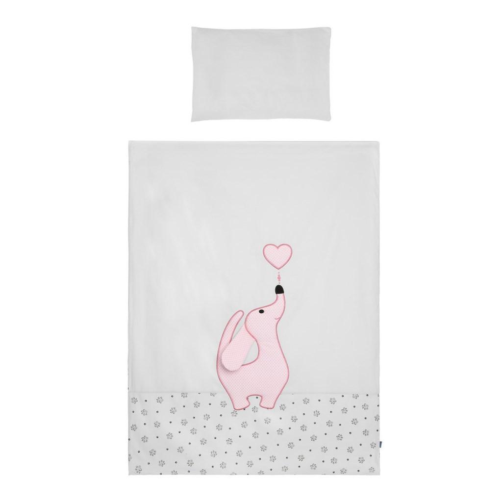 5-dielne posteľné obliečky Belisima Lovely Puppy 90/120 ružové