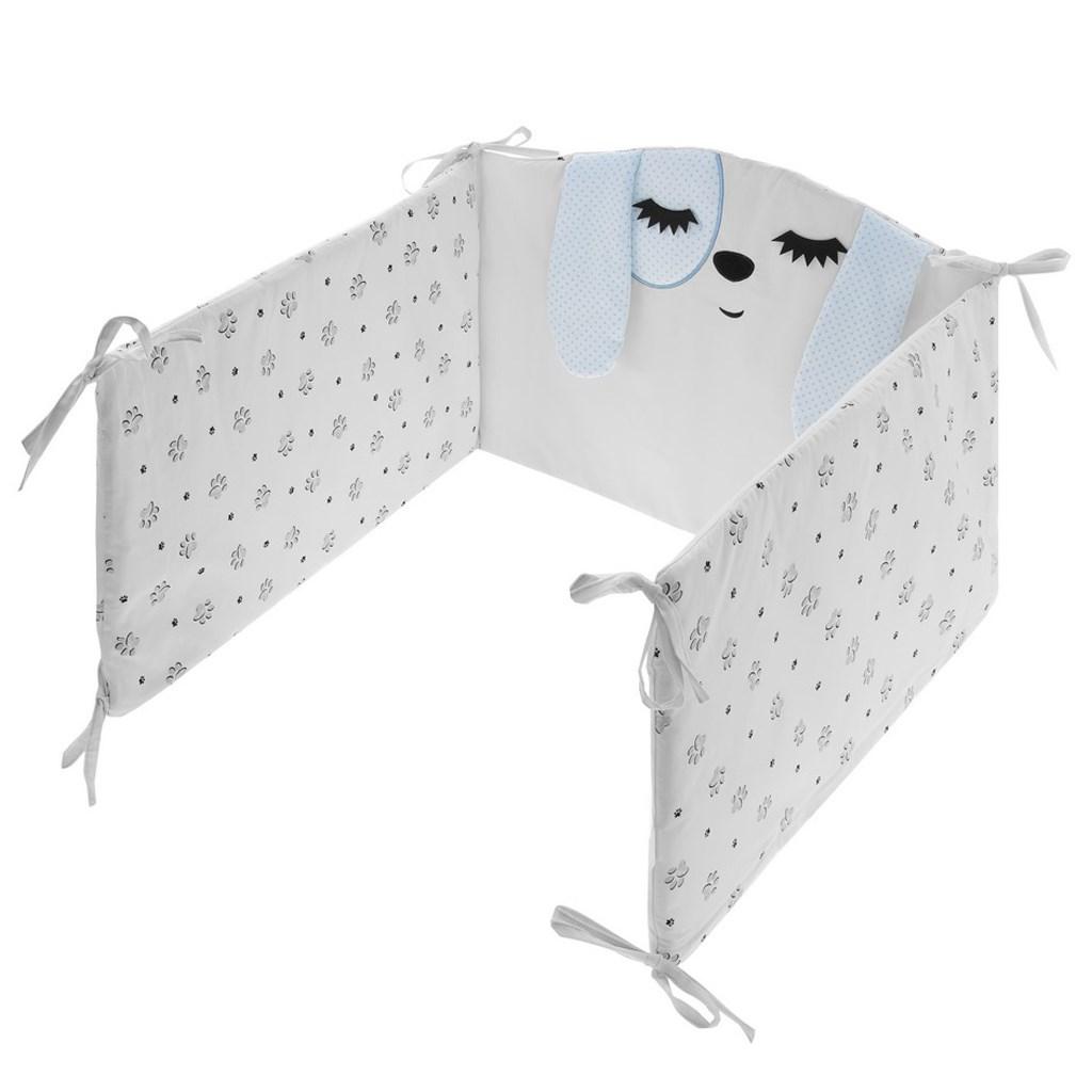 5-dielne posteľné obliečky Belisima Lovely Puppy 100/135 modré