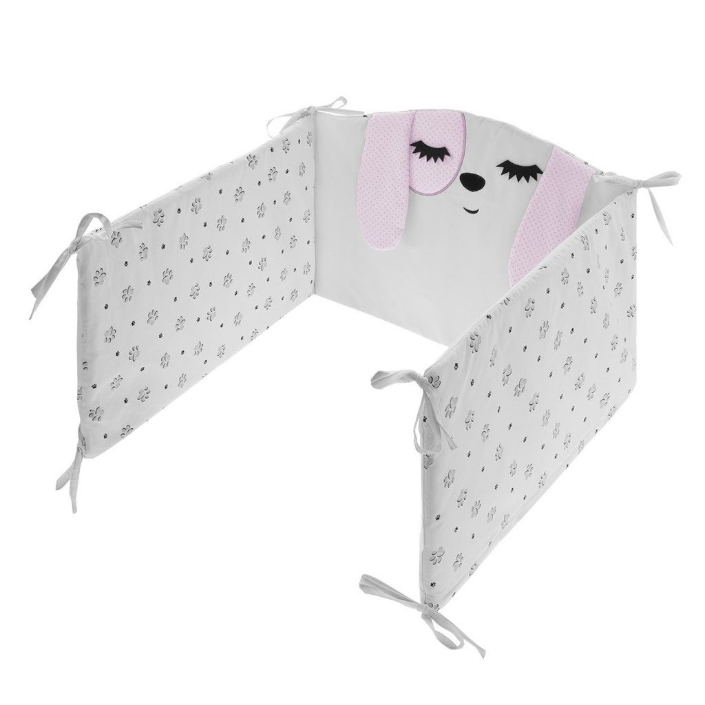 5-dielne posteľné obliečky Belisima Lovely Puppy 100/135 ružové