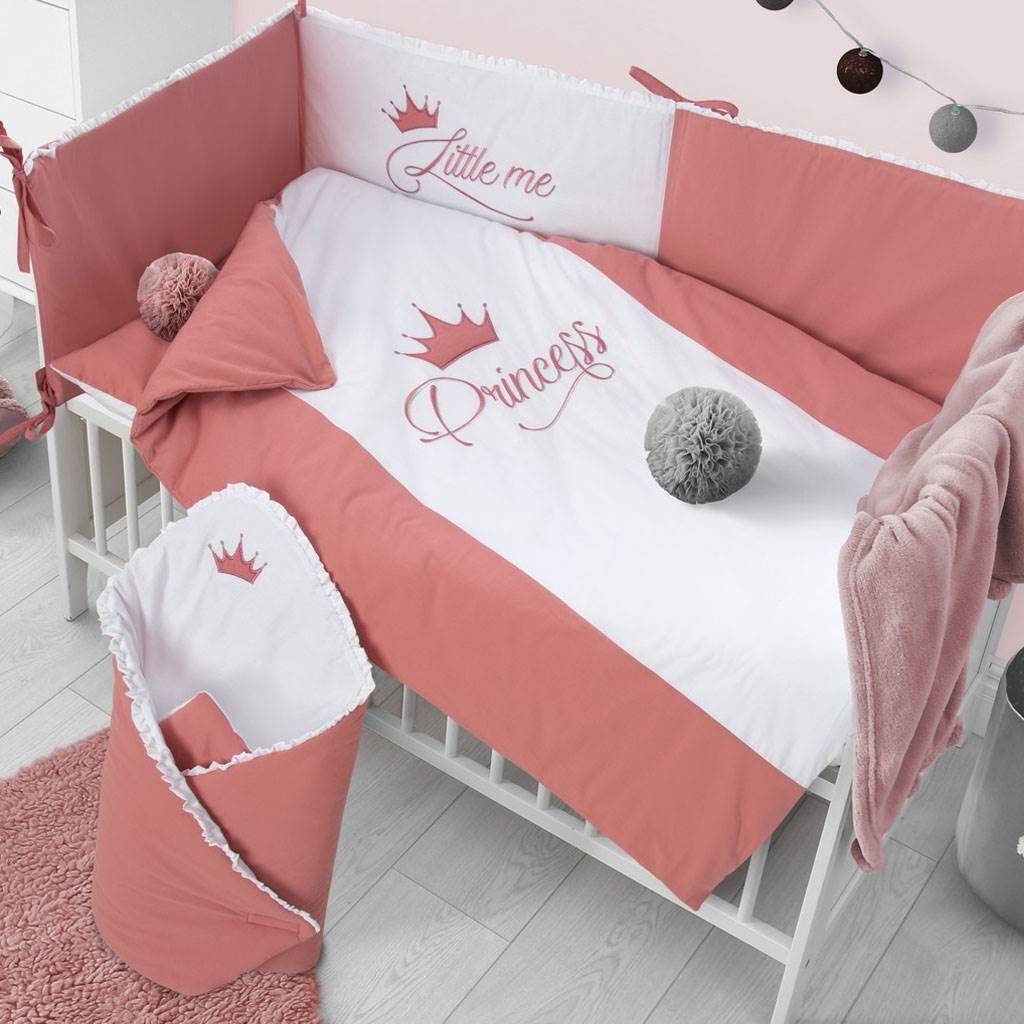 3-dielne posteľné obliečky Belisima Royal Baby 90/120 ružové