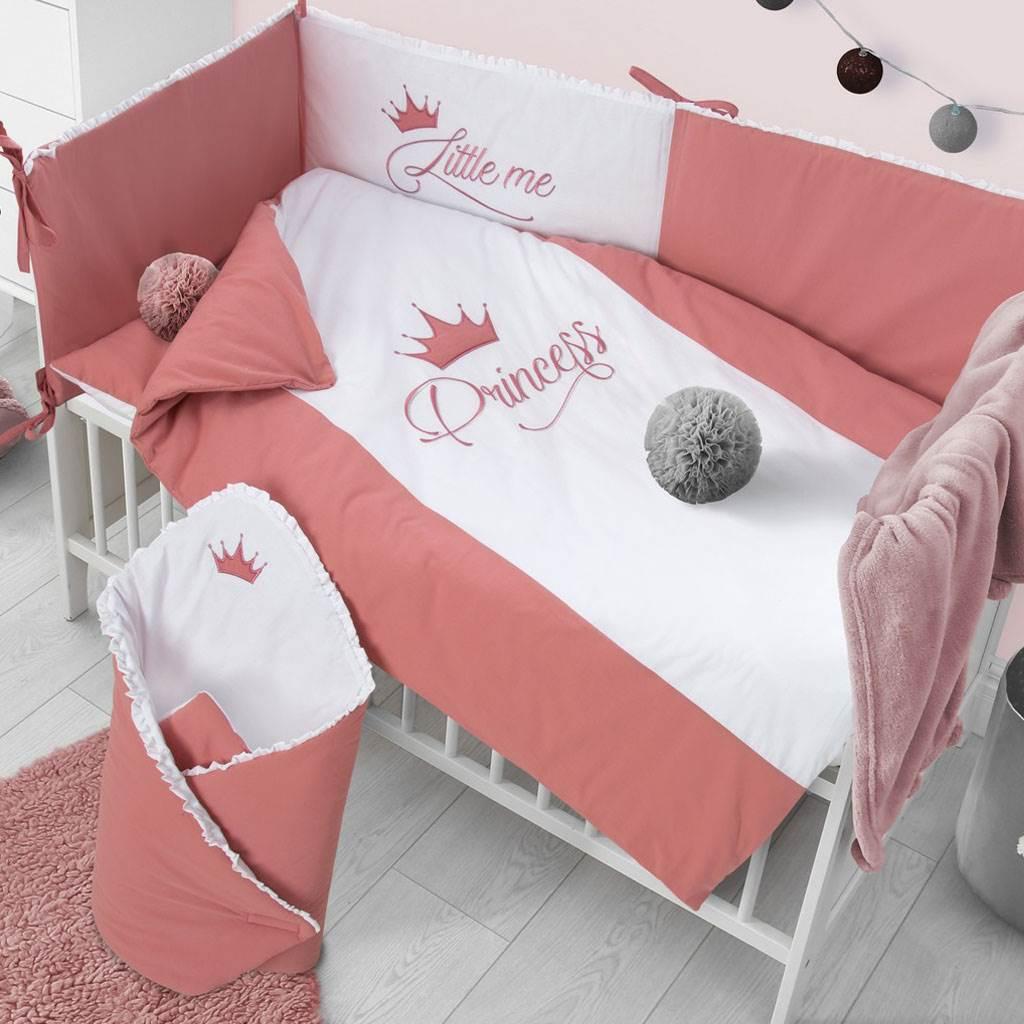 5-dielne posteľné obliečky Belisima Royal Baby 100/135 ružové