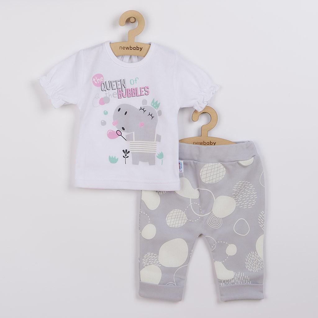 Dojčenské tričko s krátkym rukávom a tepláčky New Baby Queen-68 (4-6m)