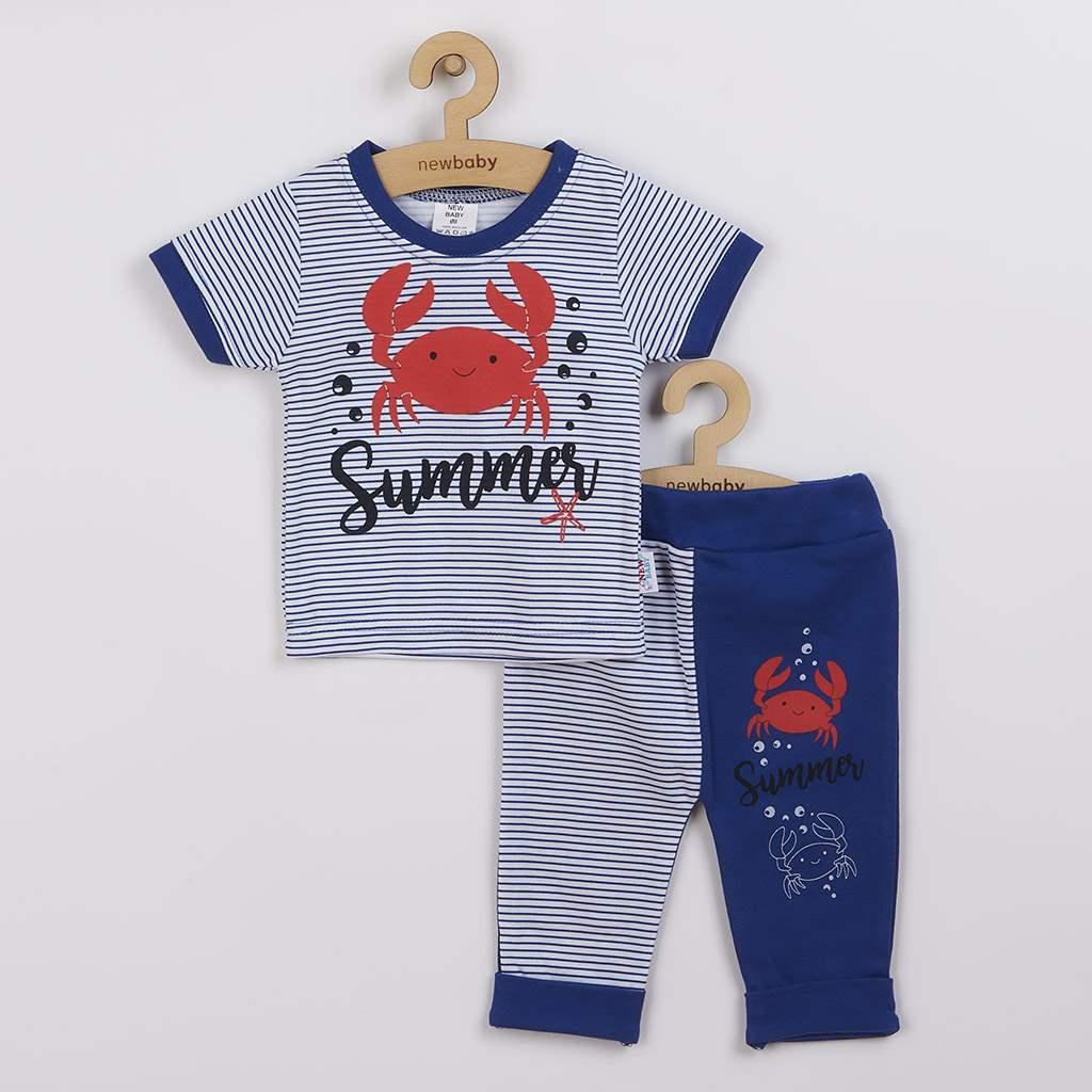 Dojčenské tričko s krátkym rukávom a tepláčky New Baby Summer