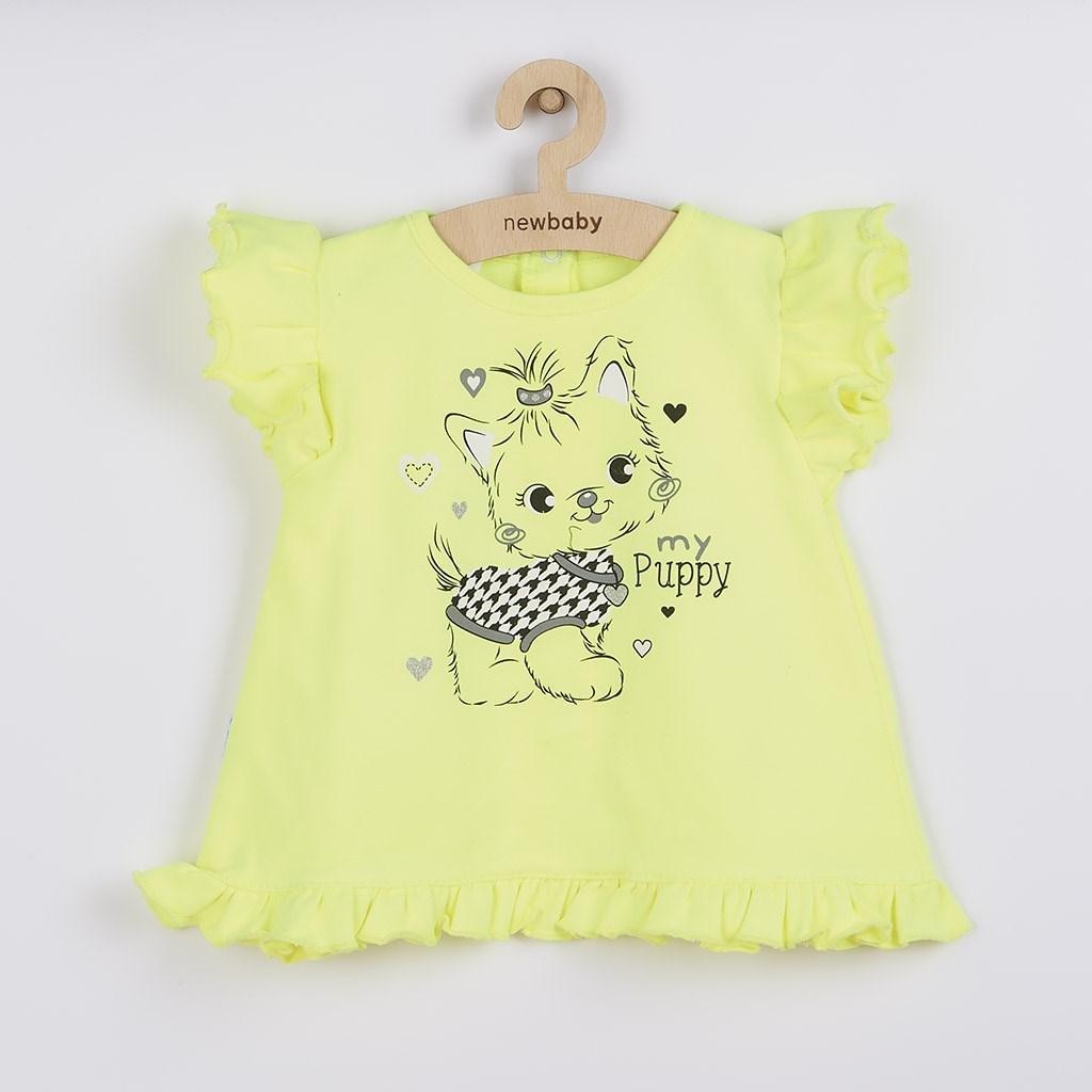 2-dielna letná dievčenská súprava New Baby Puppy