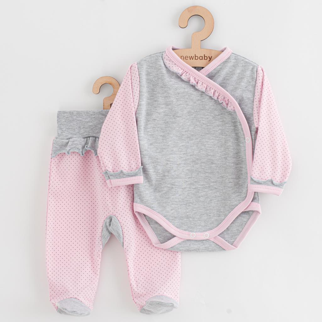 2-dielna dojčenská súprava New Baby Puntík II sivo-ružová-68 (4-6m)