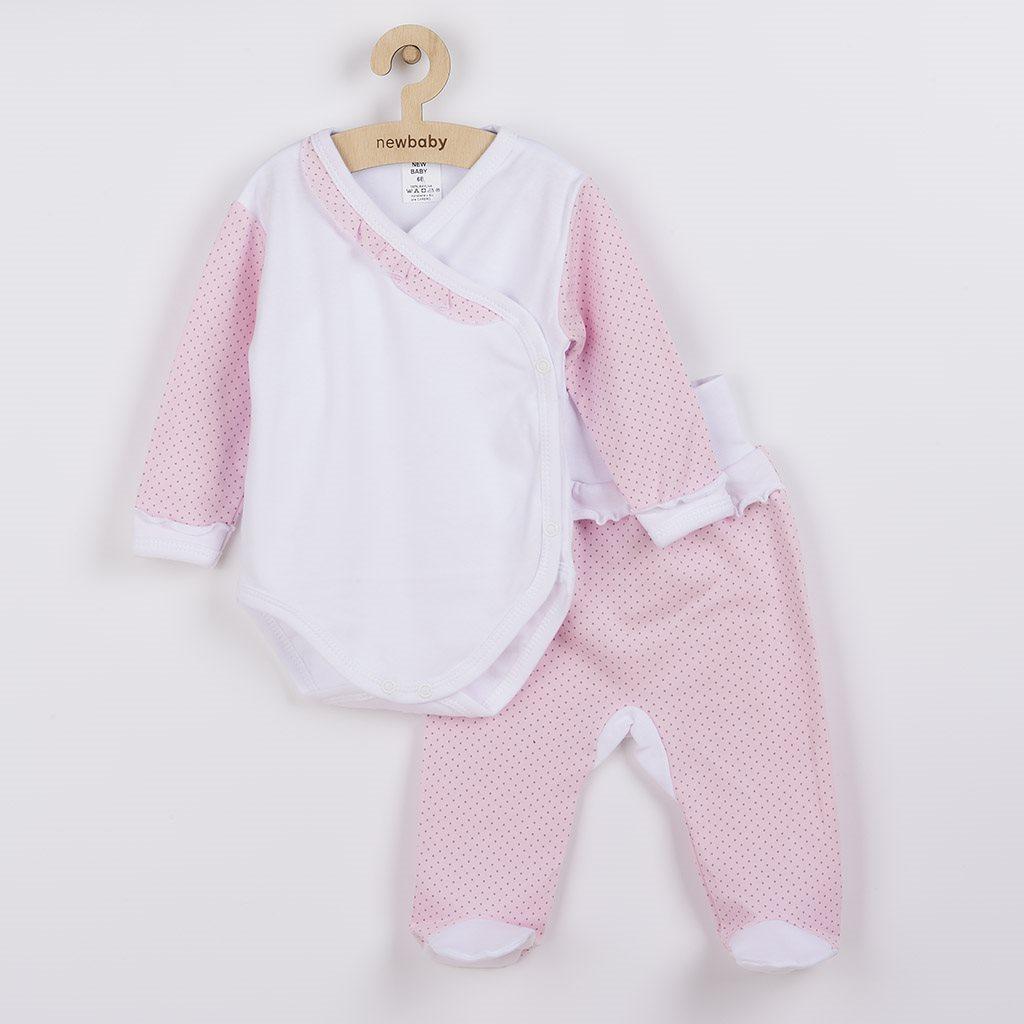 2-dielna dojčenská súprava New Baby Puntík II bielo-ružová-56 (0-3m)