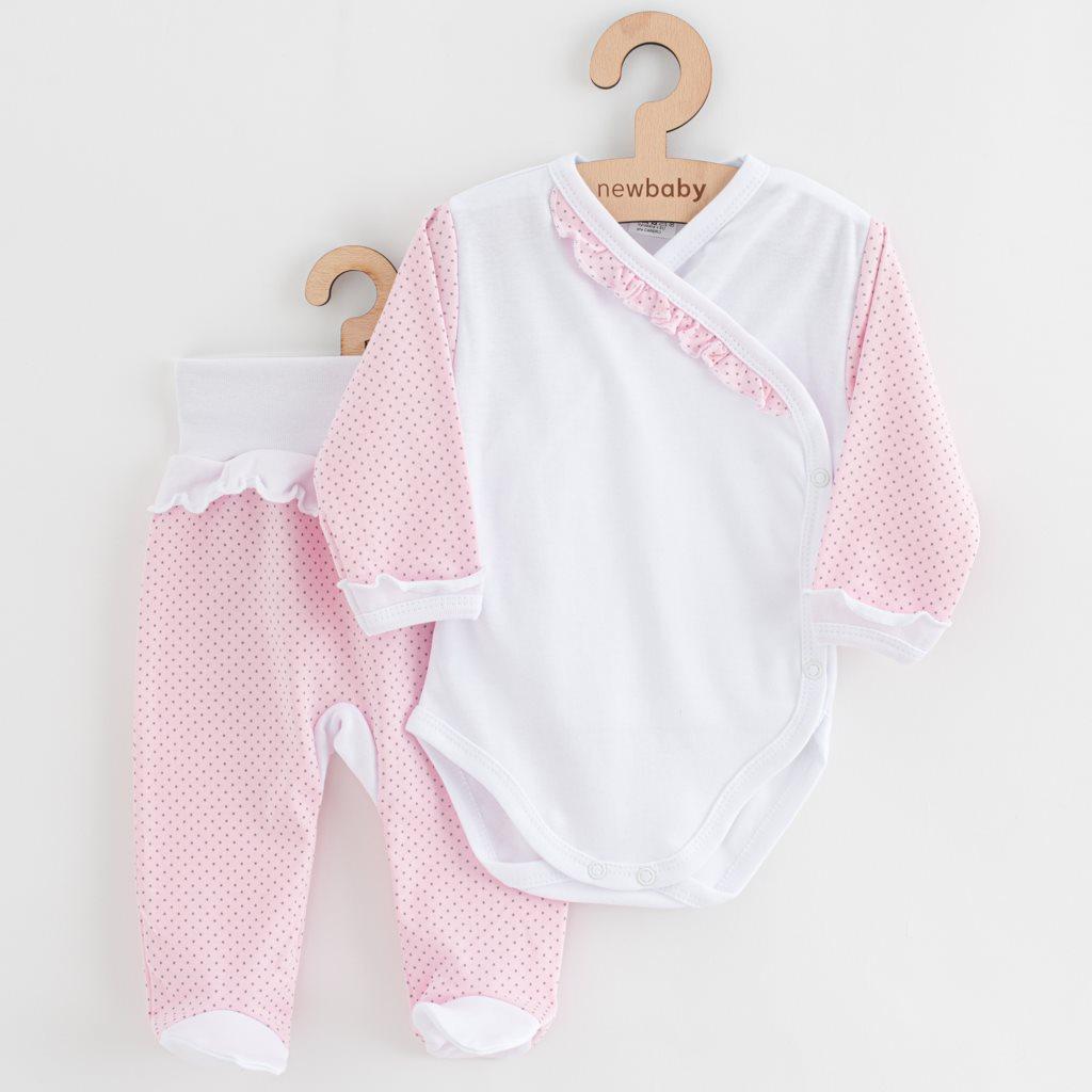 2-dielna dojčenská súprava New Baby Puntík II bielo-ružová-68 (4-6m)