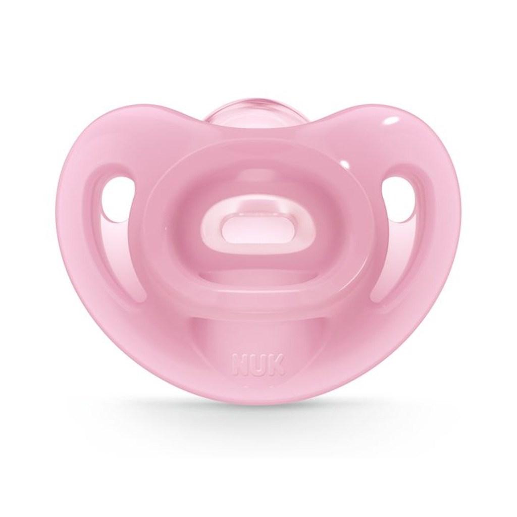 Silikónový cumlík Sensitive NUK 0-6m ružový