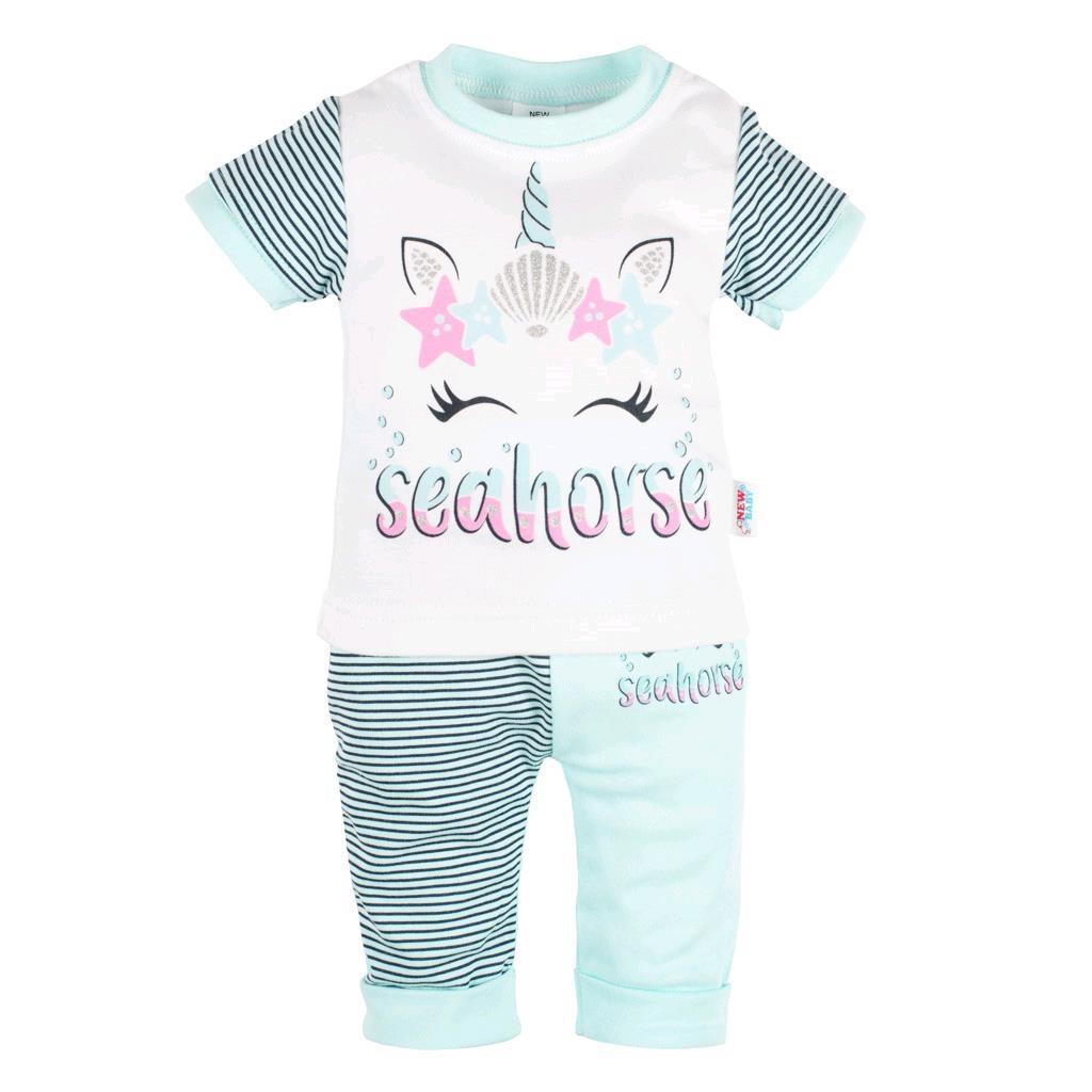 Dojčenské tričko s krátkym rukávom a tepláčky New Baby seahorse-68 (4-6m)
