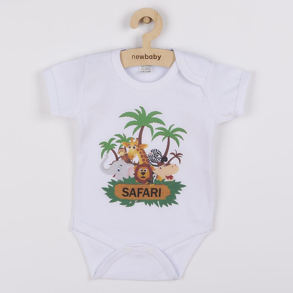 Body s potlačou New Baby SAFARI-56 (0-3m)