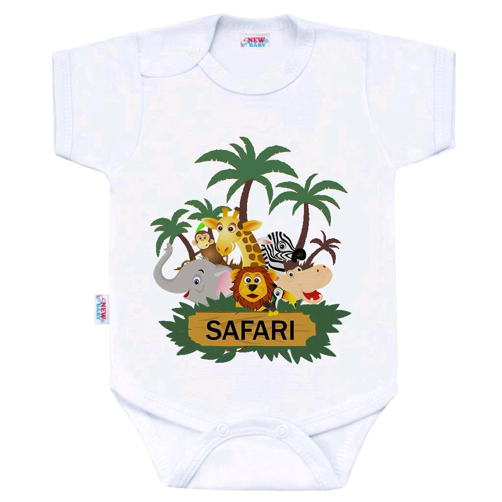 Body s potlačou New Baby SAFARI-80 (9-12m)