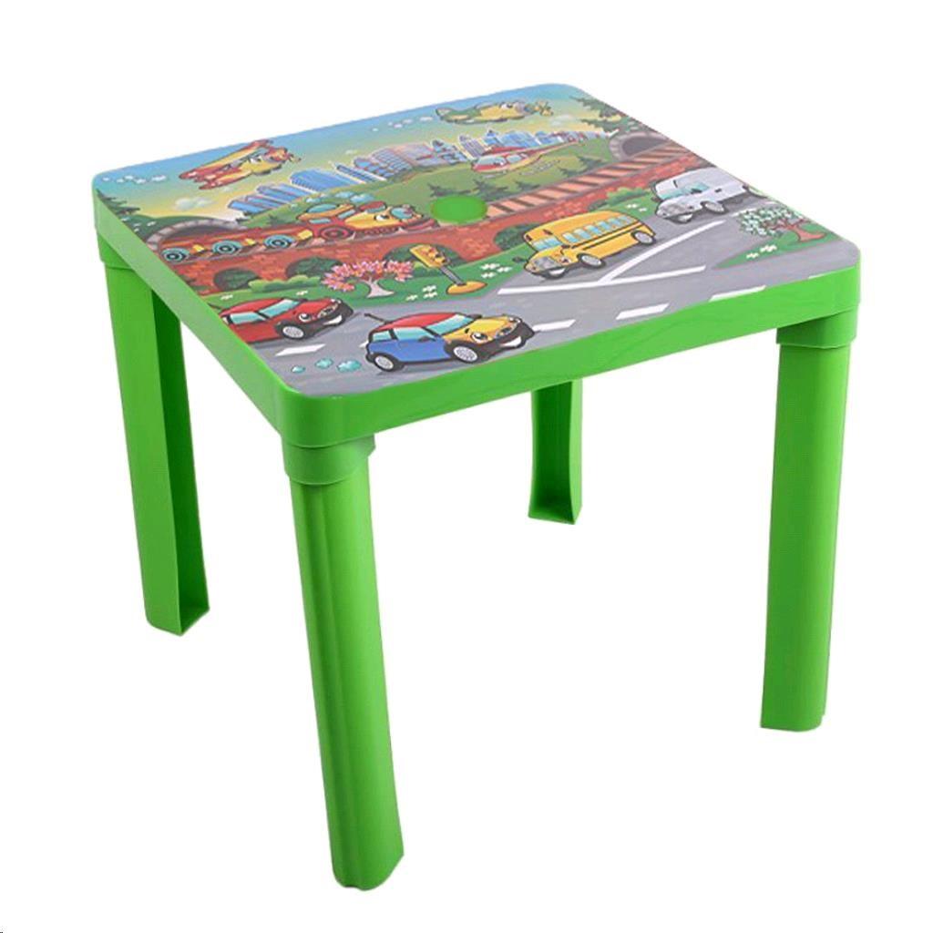 Detský záhradný nábytok - Plastový stôl auta zelený