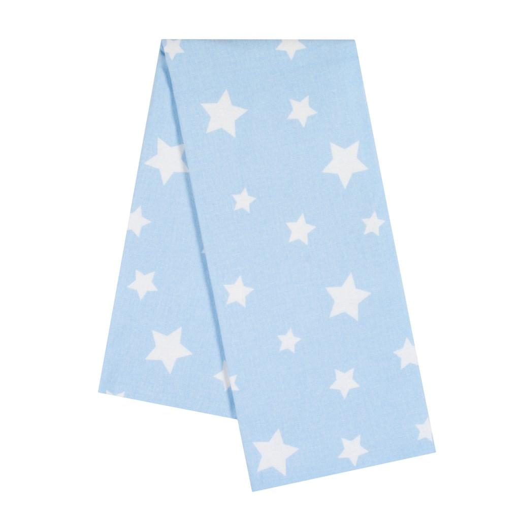 Flanelová plienka s potlačou New Baby modrá hviezdy biele