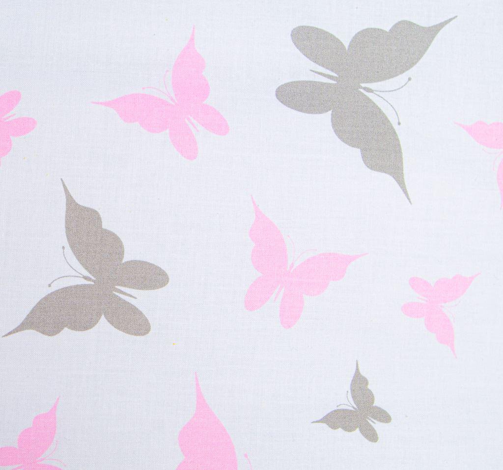 3-dielne posteľné obliečky New Baby 90/120 cm biele motýle