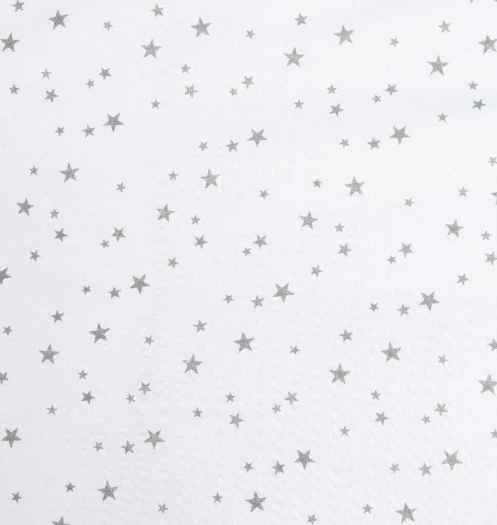 3-dielne posteľné obliečky New Baby 90/120 cm biele sivé hviezdičky