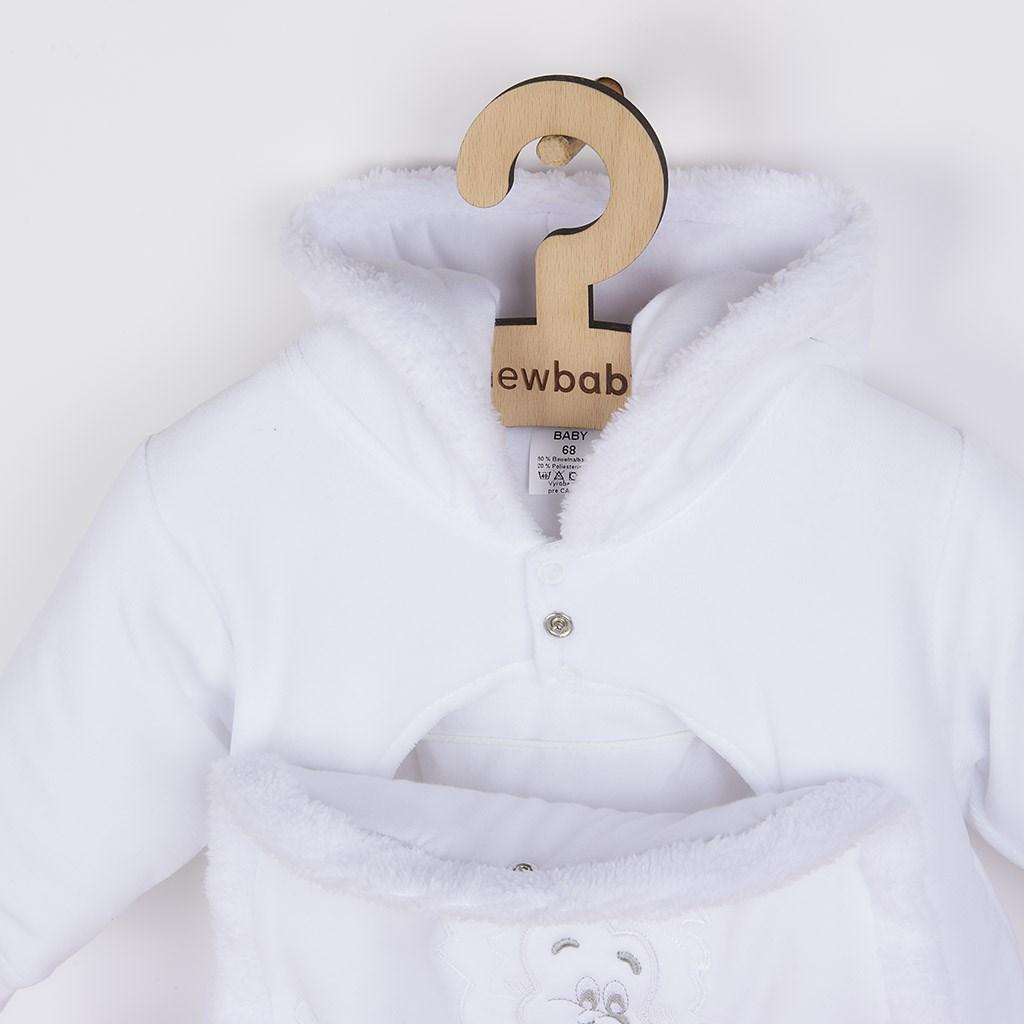 Detská kombinéza New Baby ježko biela 62 (3-6m)
