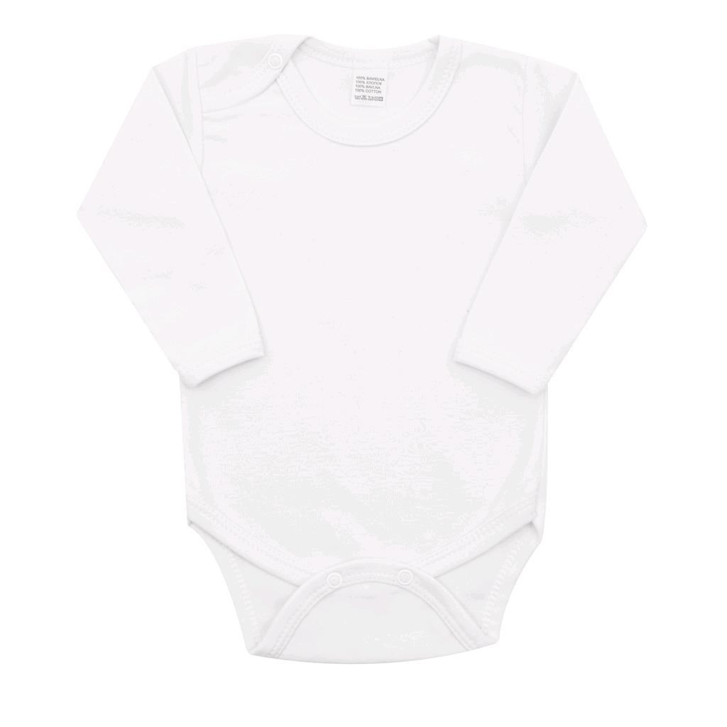 Body dlhý rukáv New Baby - biele-68 (4-6m)