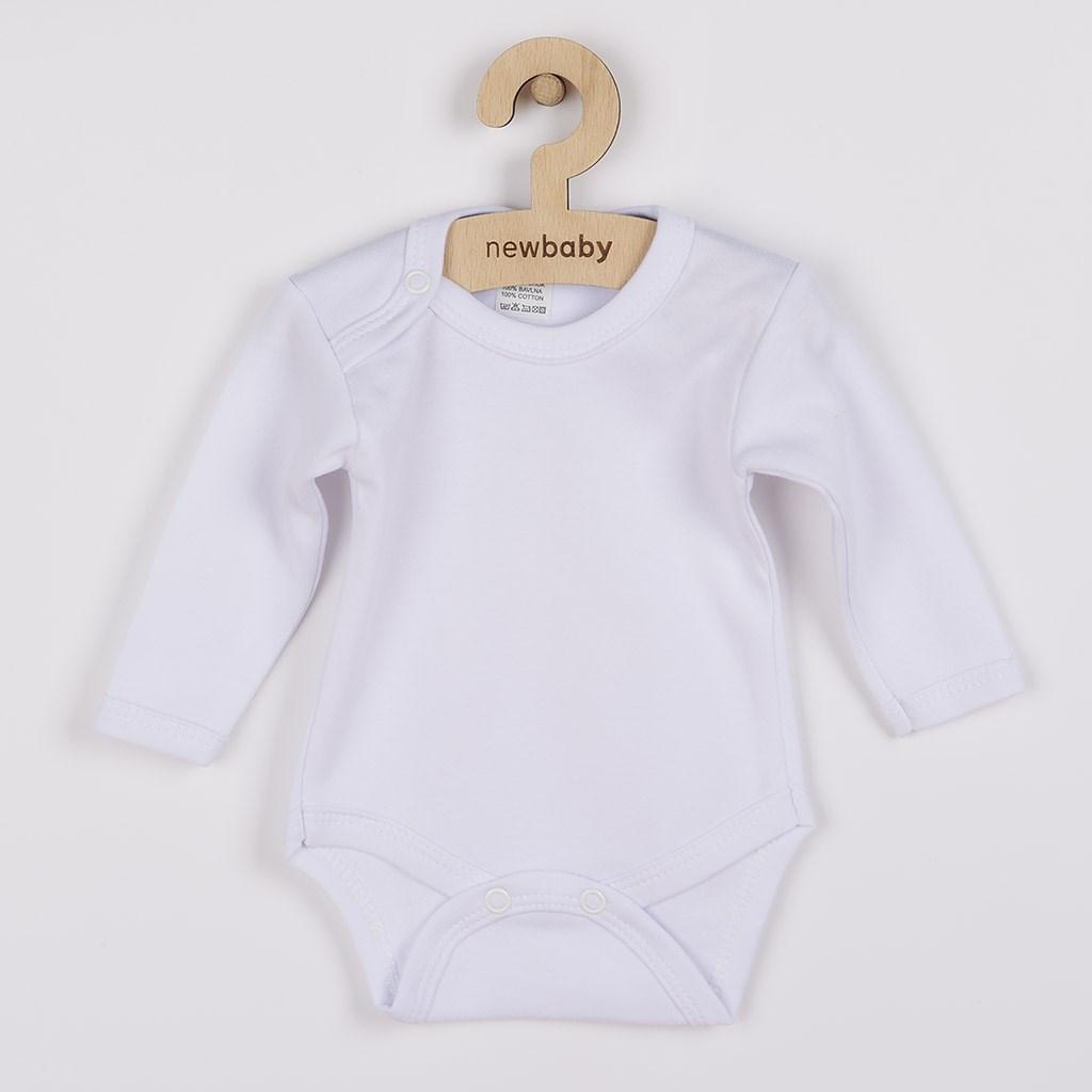 Body dlhý rukáv New Baby - biele