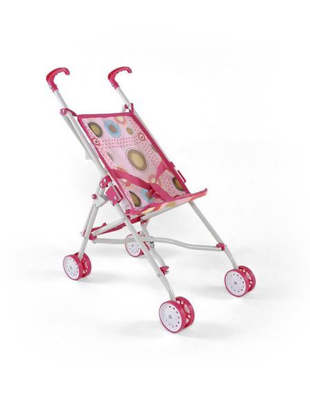Detský golfový kočík pre bábiky Milly Mally Julie ružovo-hnedý