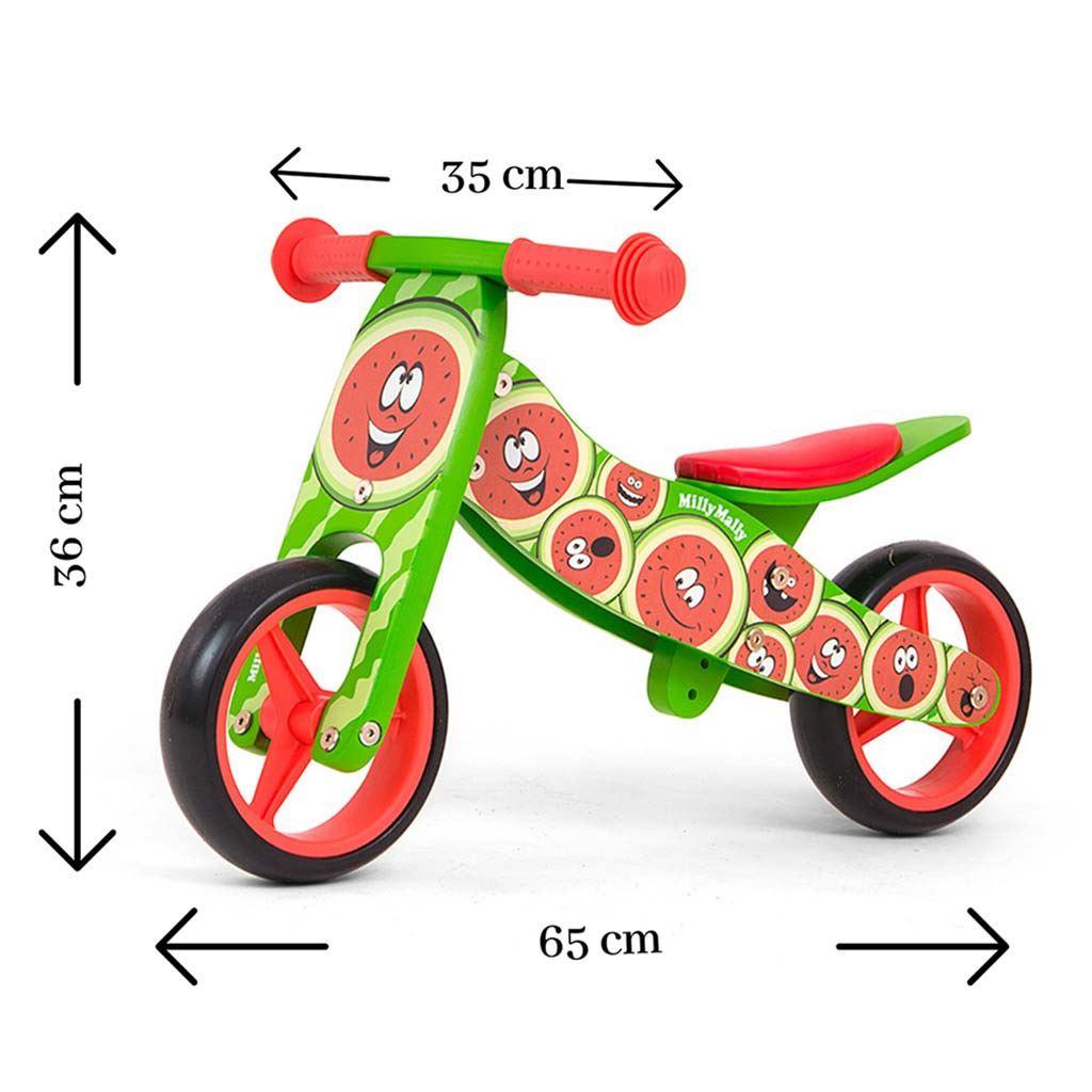 Detské multifunkčné odrážadlo bicykel Milly Mally JAKE watemelon