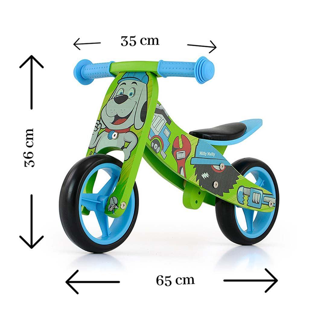 Detské multifunkčné odrážadlo bicykel Milly Mally JAKE Bob