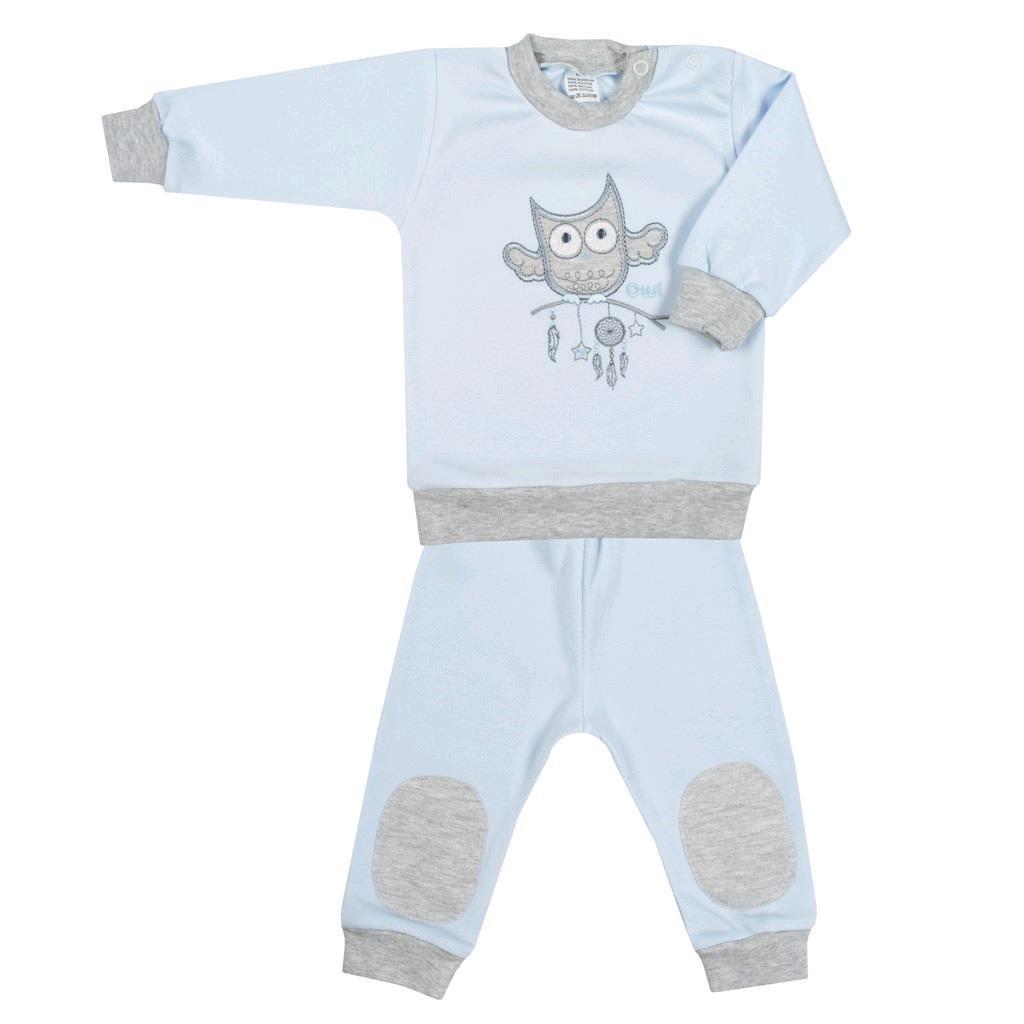 2-dielna dojčenská súprava New Baby Owl modrá