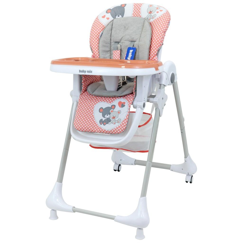 Jedálenská stolička Baby Mix Infant pink