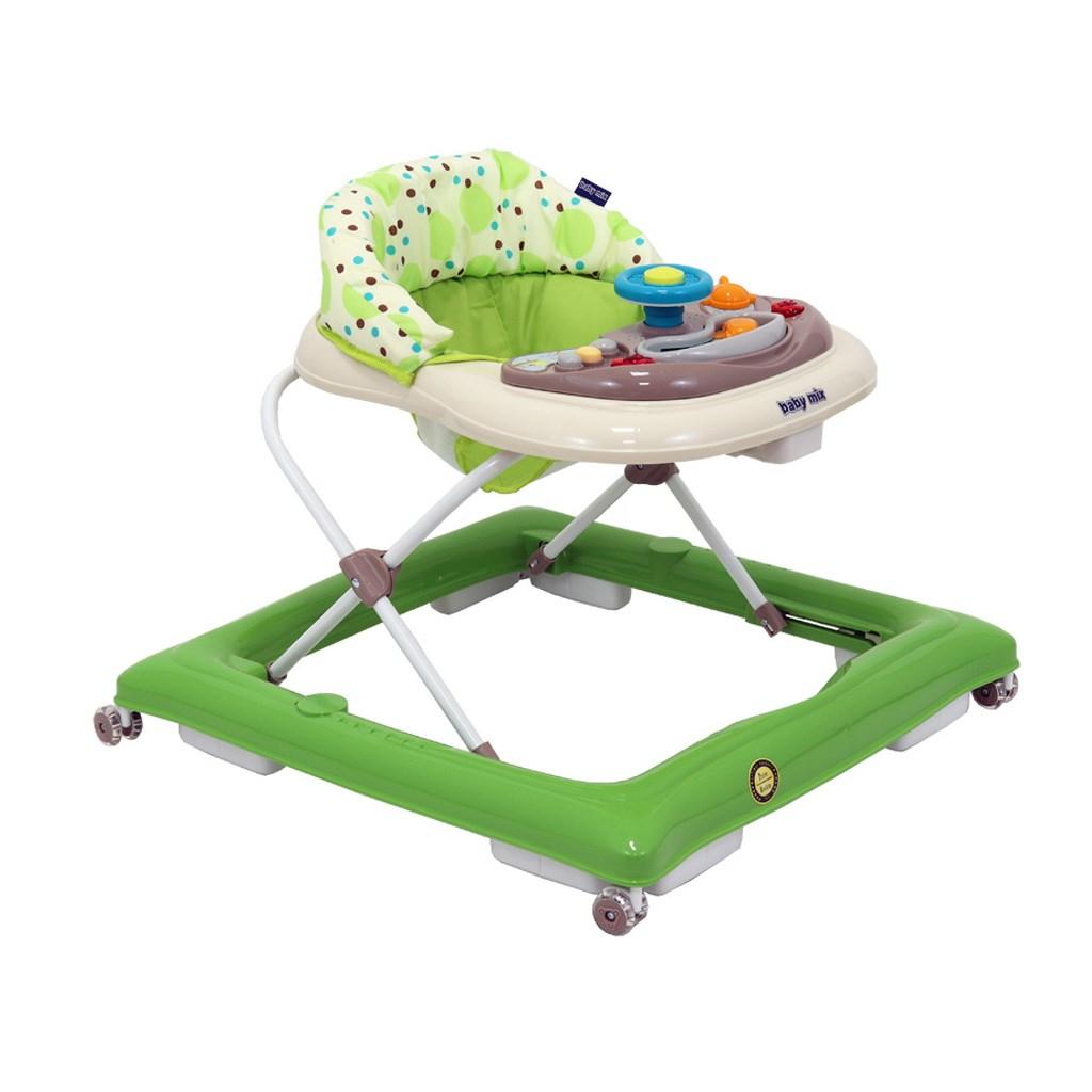 Detské chodítko Baby Mix green-beige