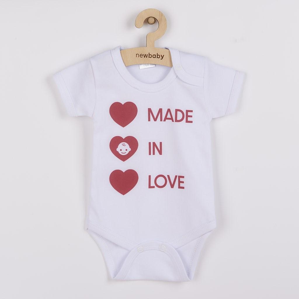 Body s potlačou New Baby MADE IN LOVE-68 (4-6m)
