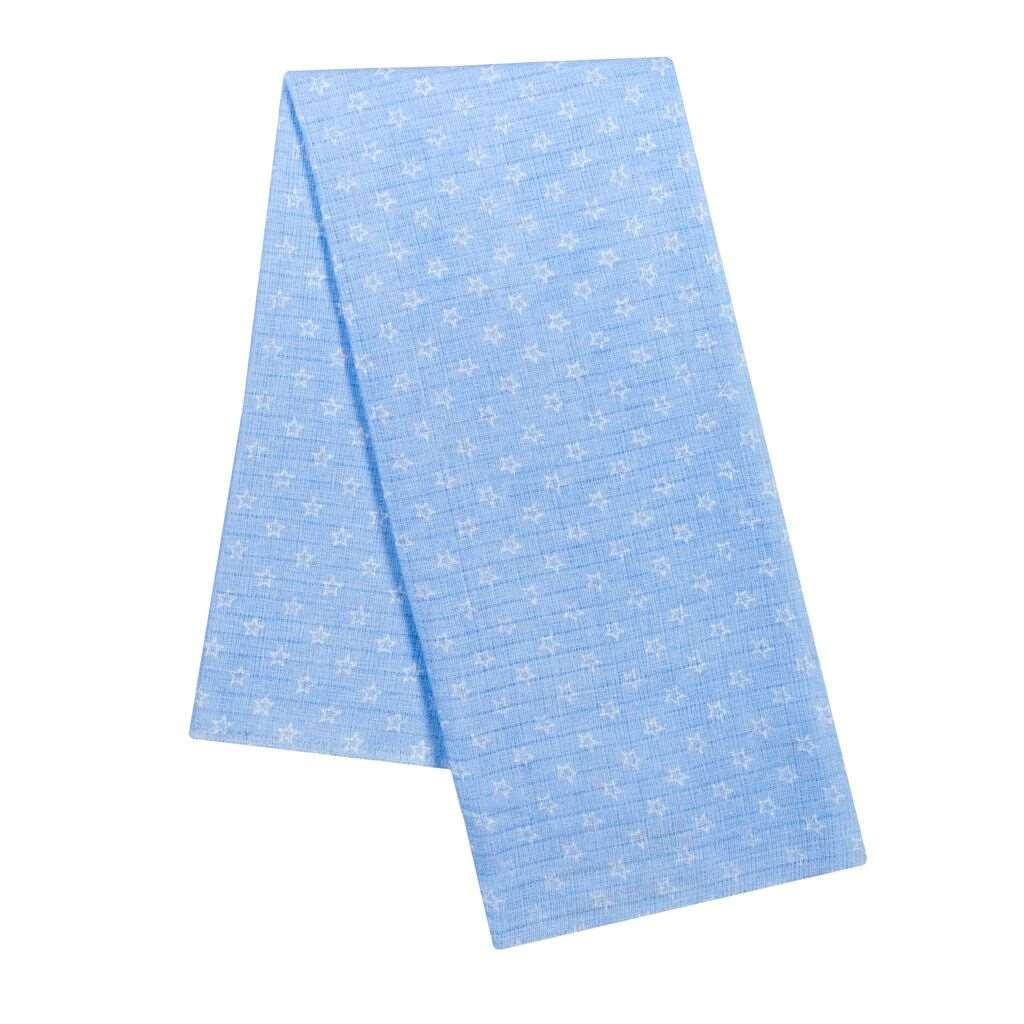 Bavlnená plienka s potlačou New Baby modrá s bielymi hviezdičkami
