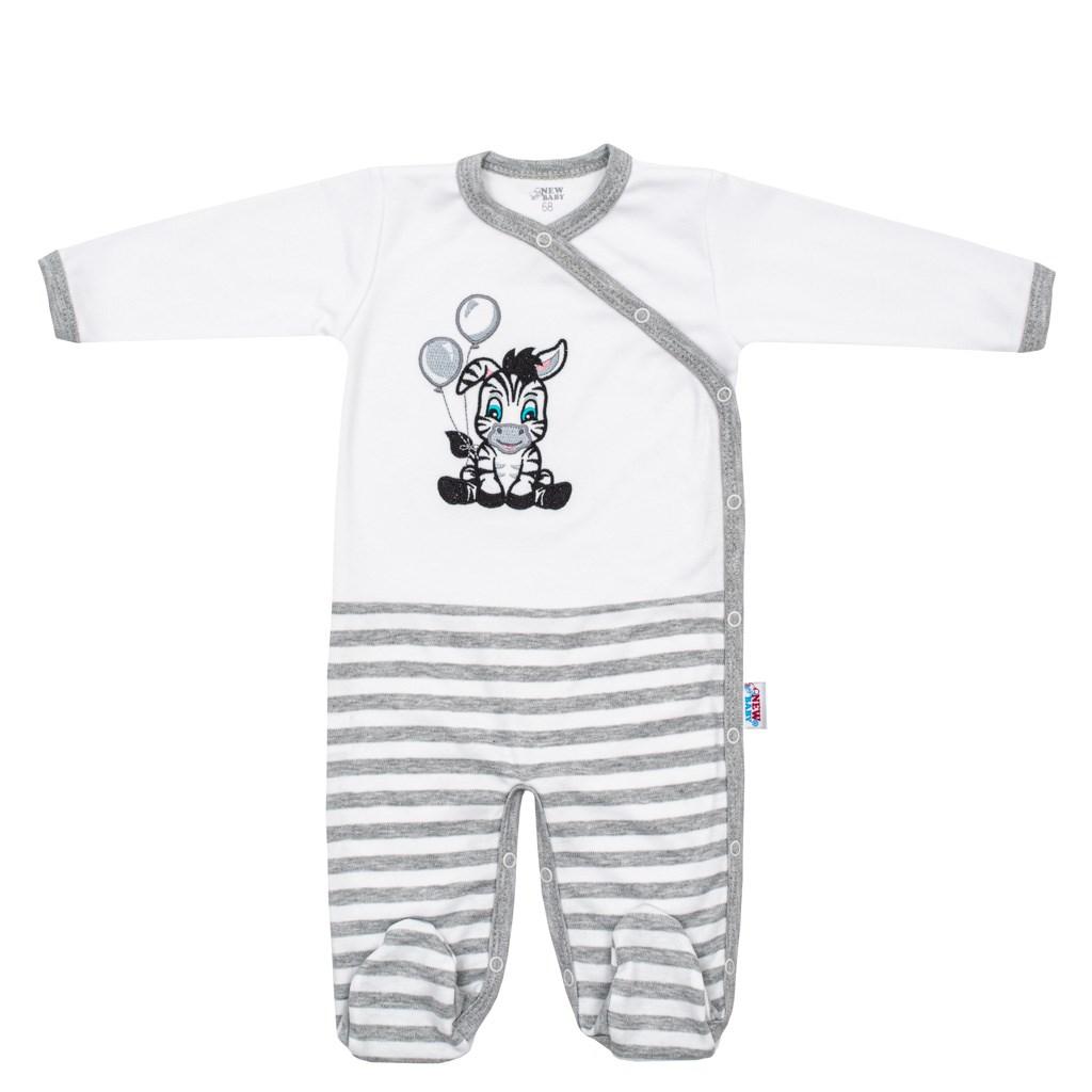 Dojčenský bavlnený overal New Baby Zebra exclusive-68 (4-6m)