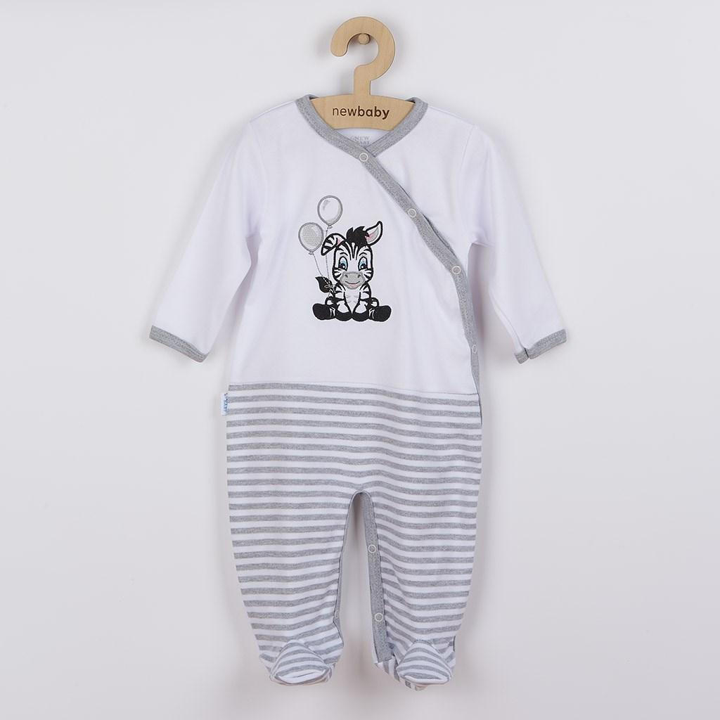 Dojčenský bavlnený overal New Baby Zebra exclusive-80 (9-12m)