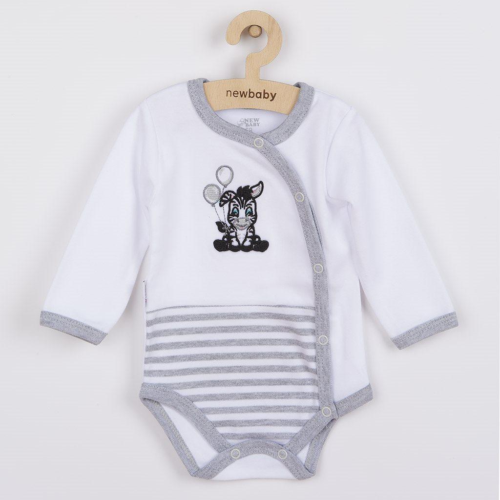 Dojčenské bavlnené celorozopínacie body New Baby Zebra exclusive 62 (3-6m)