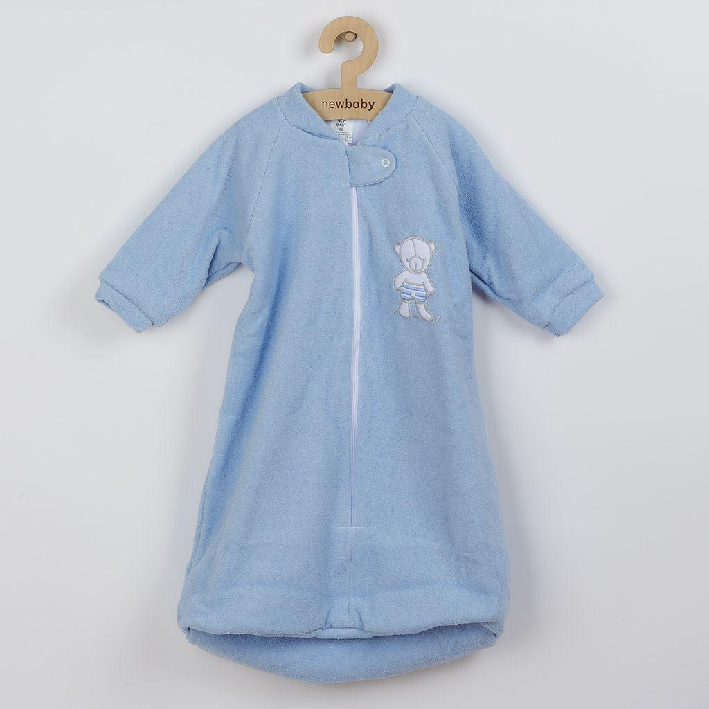 Dojčenský froté spací vak New Baby medvedík modrý-62 (3-6m)