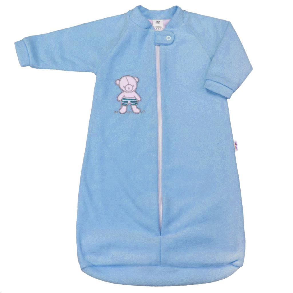 Dojčenský froté spací vak New Baby medvedík modrý-74 (6-9m)