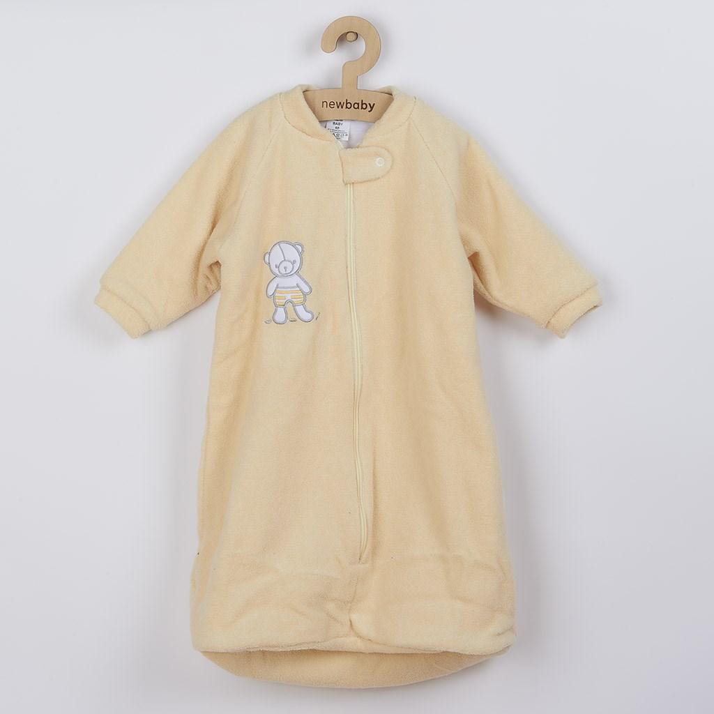 Dojčenský froté spací vak New Baby medvedík žltý