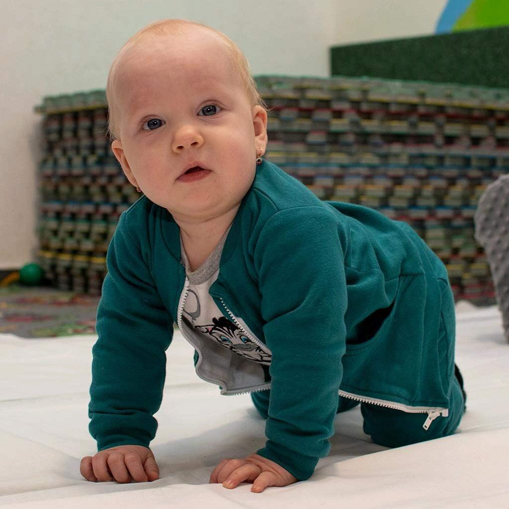 Dojčenské tepláčky a mikinka New Baby Uni zelená 68 (4-6m)