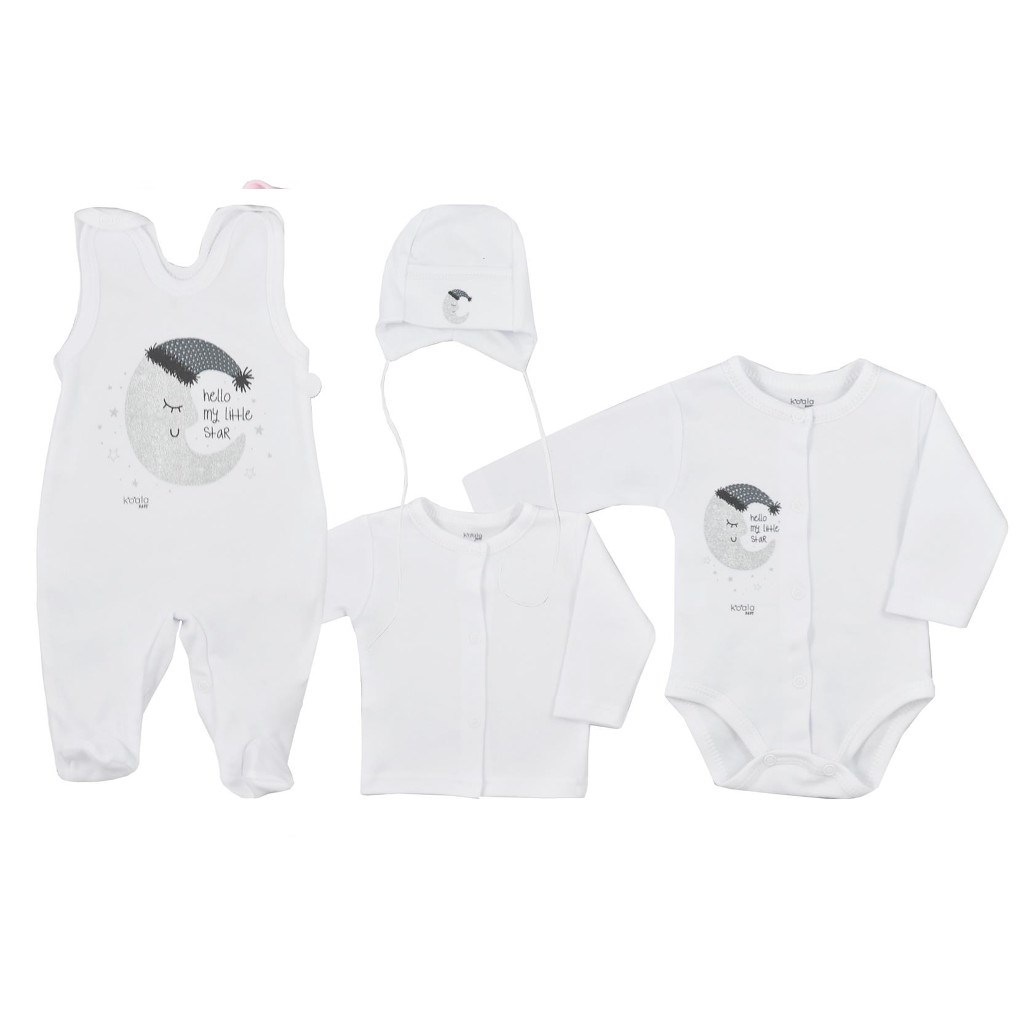 4-dielna dojčenská súprava Koala Moon biela