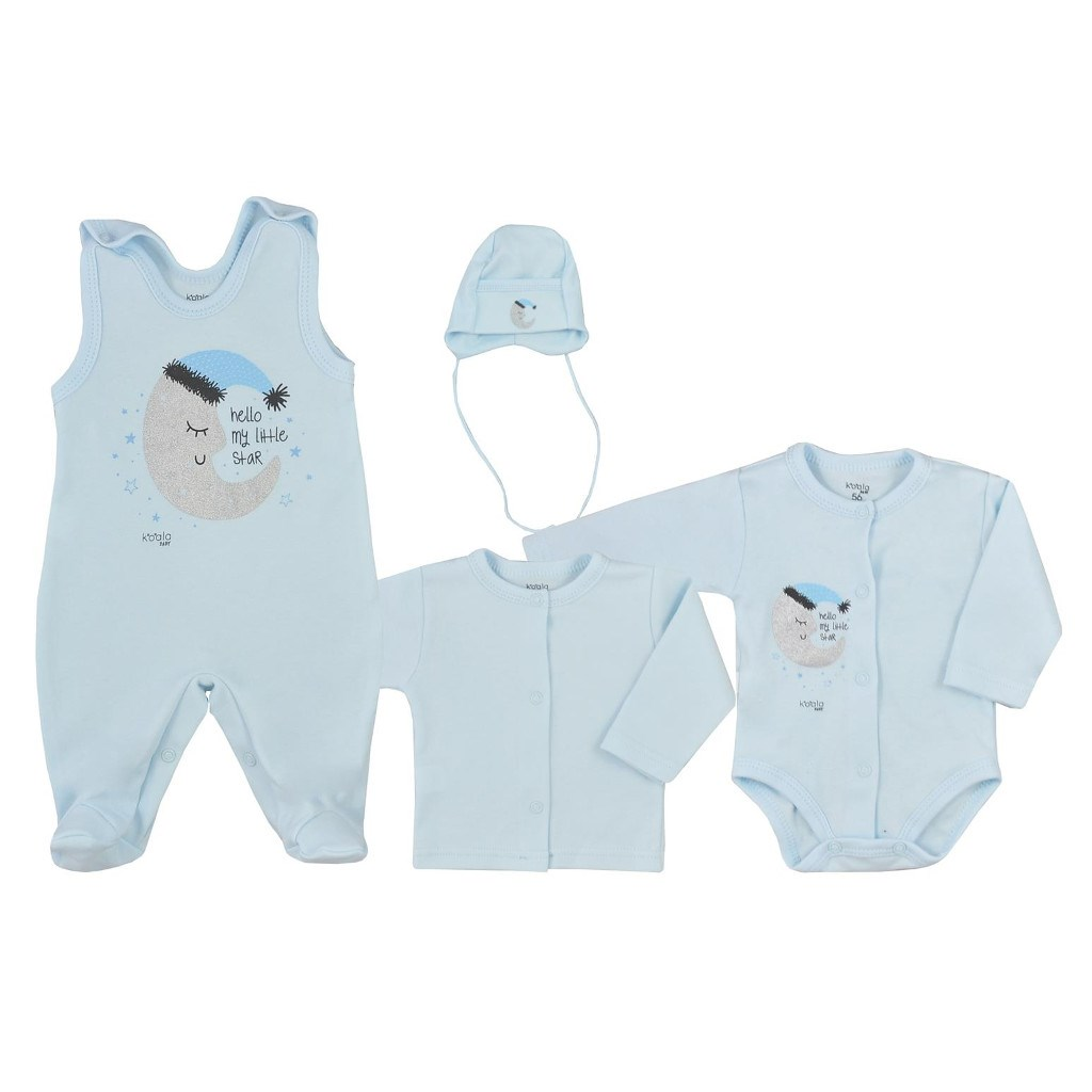 4-dielna dojčenská súprava Koala Moon modrá