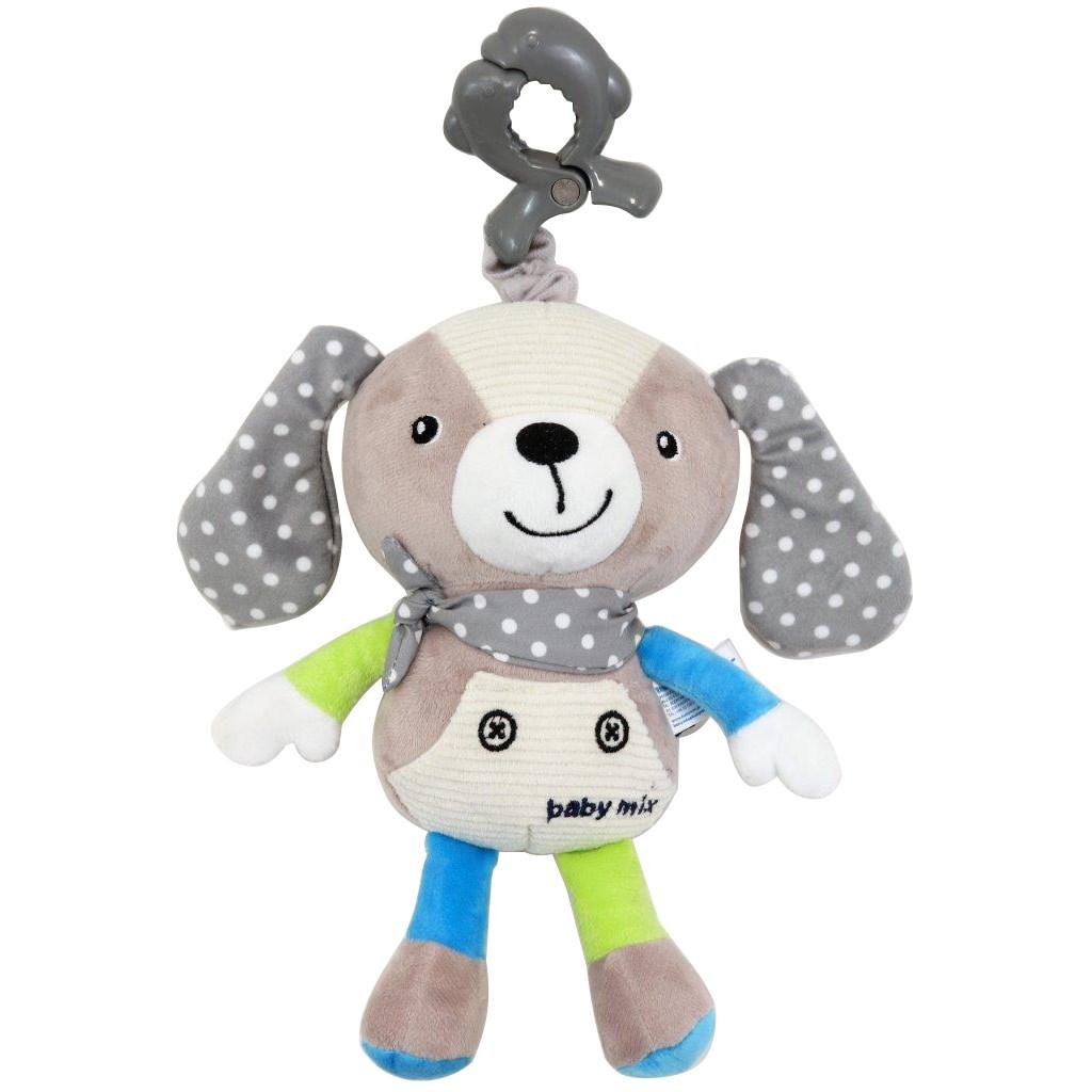 Detská plyšová hračka s hracím strojčekom Baby Mix Psíček béžový