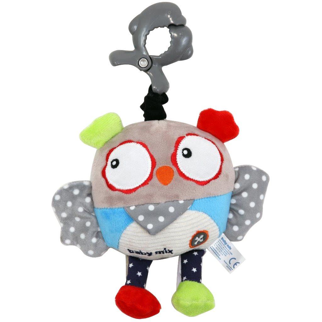 Detská plyšová hračka s hracím strojčekom Baby Mix Sova