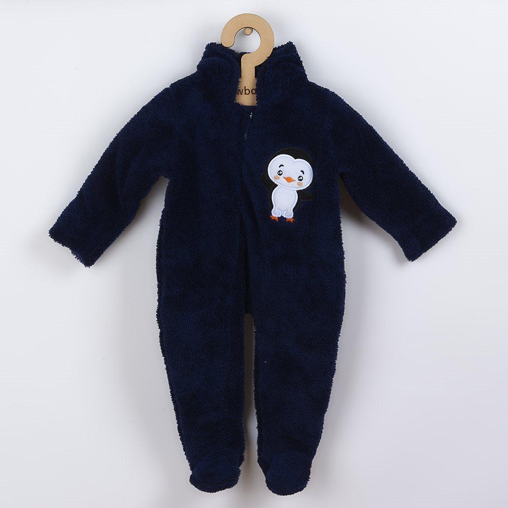 Zimná detská kombinéza New Baby Penguin tmavo modrá-68 (4-6m)