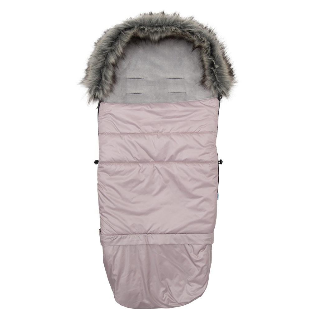 Detsky fusak NEW BABY 3v1 s kožušinou ružový
