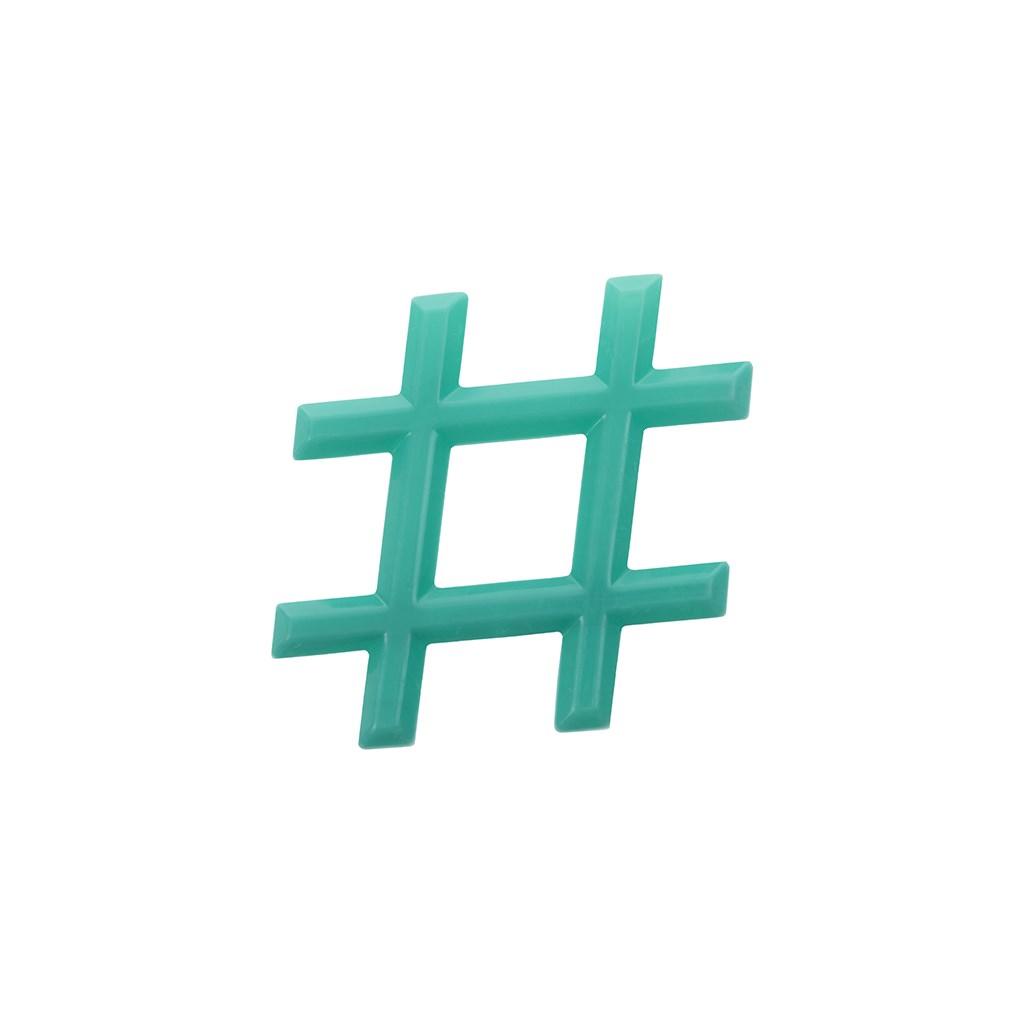 Chladiace hryzátko Akuku Hashtag zelené