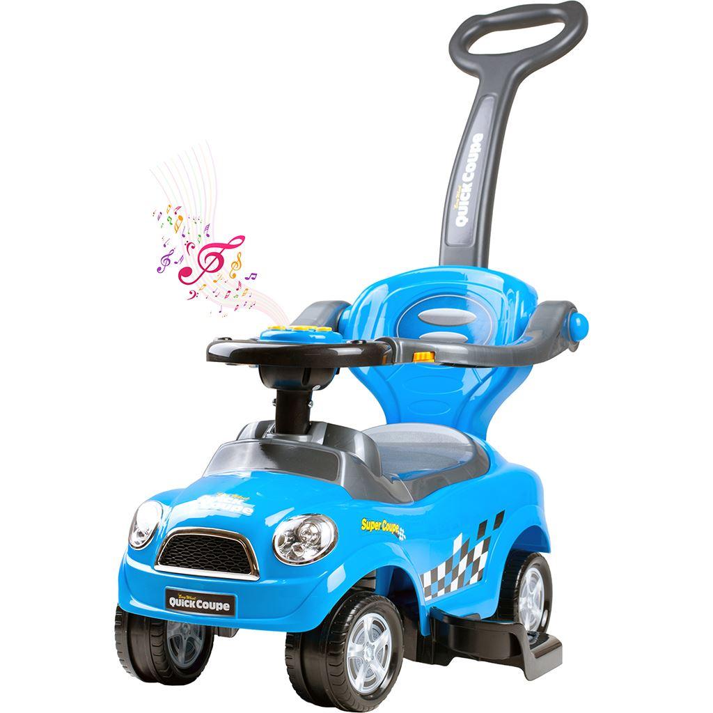 Detské hrajúce jazdítko-odrážadlo 3v1 Bayo Super Coupe blue (poškodený obal)