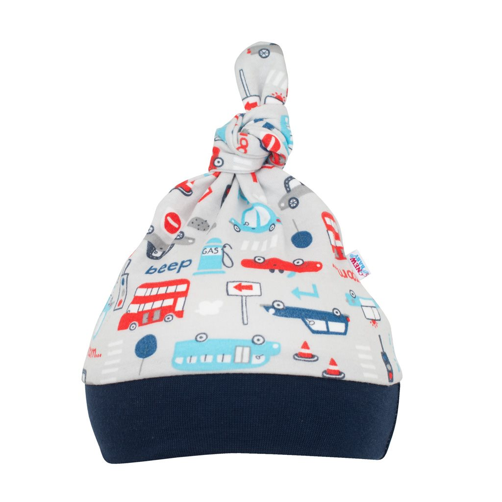 Dojčenská bavlnená čiapočka New Baby For Boys