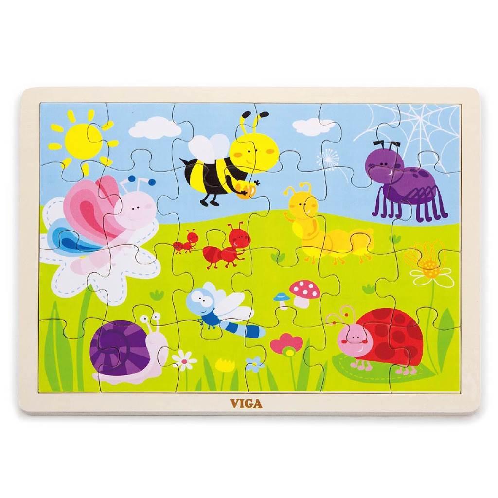 Detské drevené puzzle Viga Lúka