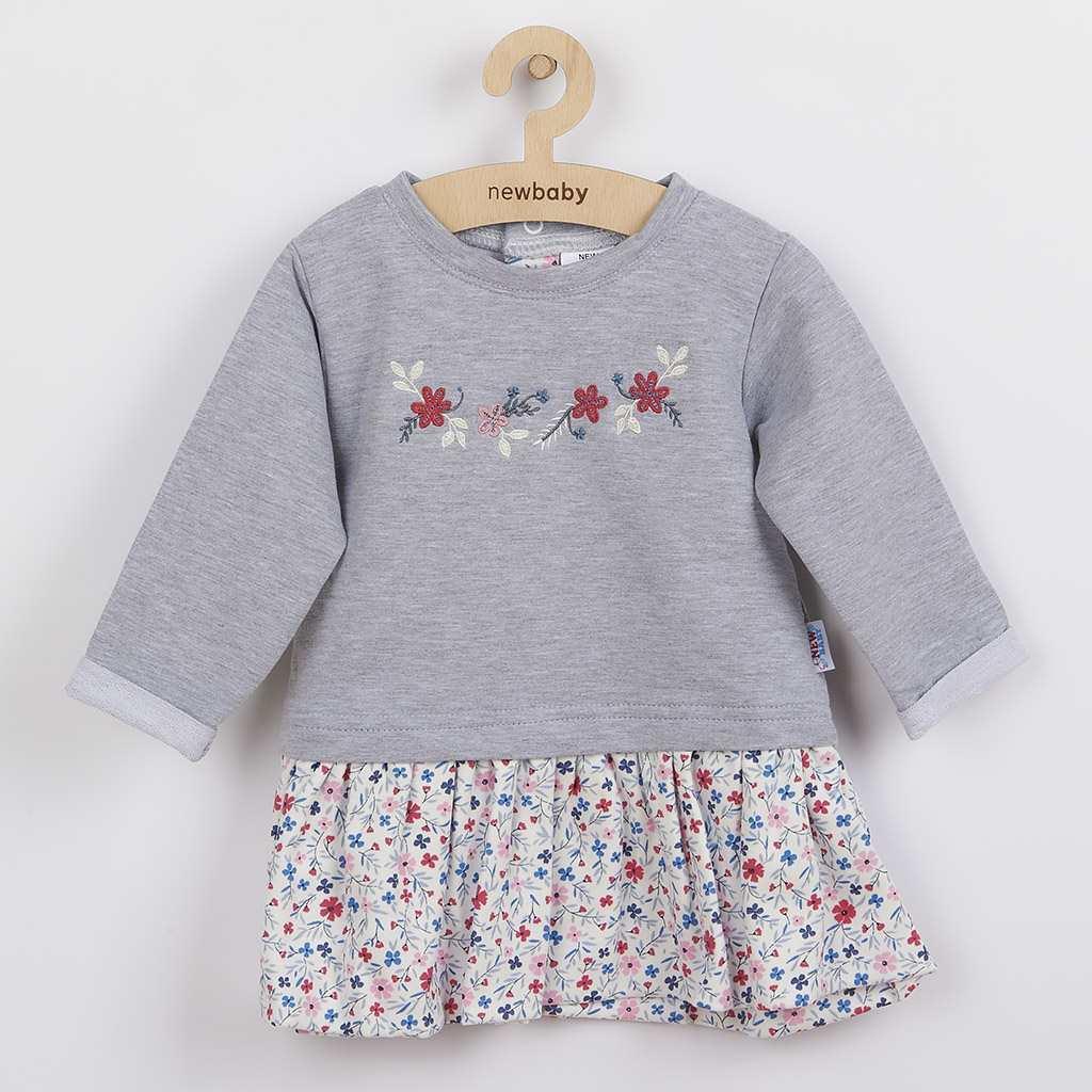 Dojčenské šatôčky s dlhým rukávom New Baby For Girls hviezdičky-74 (6-9m)