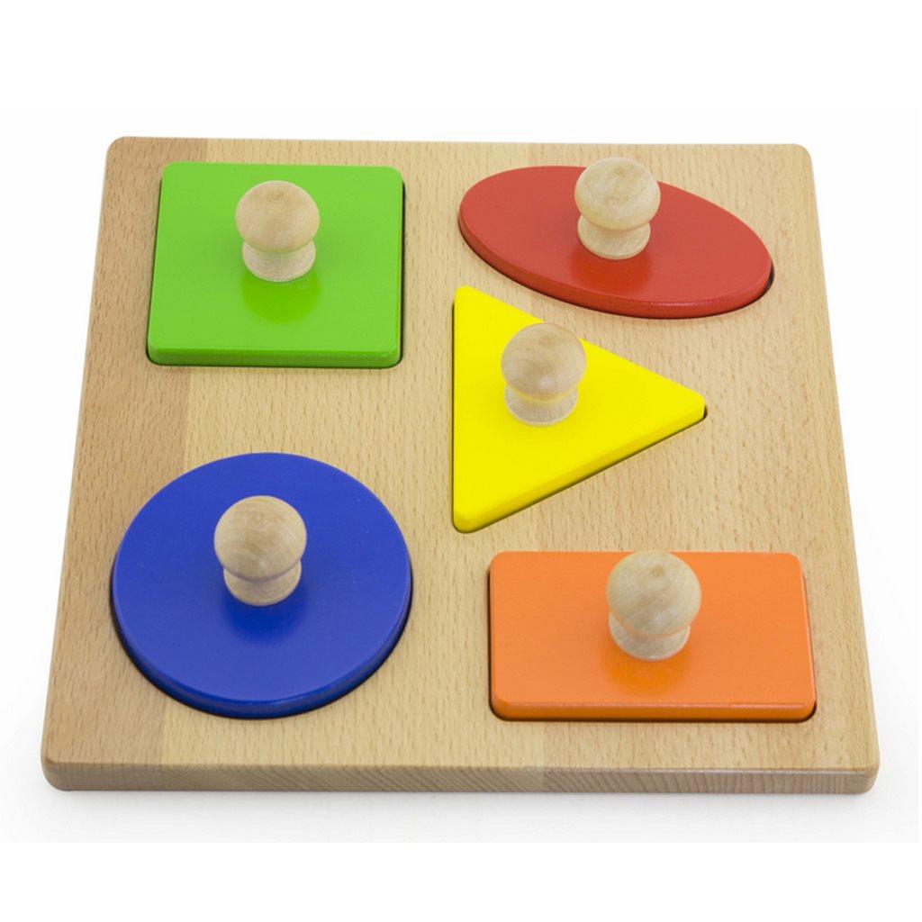 Detské vkladacie puzzle pečiatky Viga Tvary