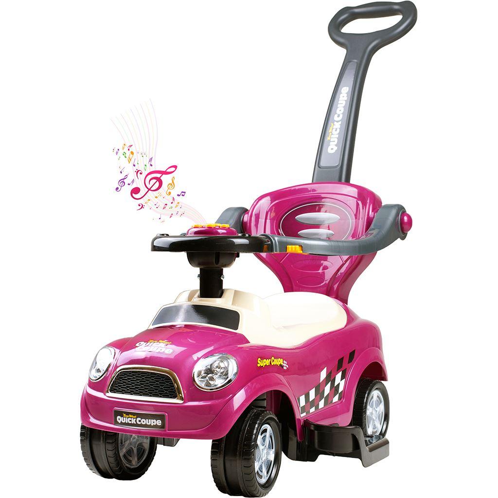 Detské hrajúce jazdítko-odrážadlo 3v1 Bayo Super Coupe purple (poškodený obal)